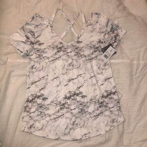Grayson Threads White Marble T Shirt size Small